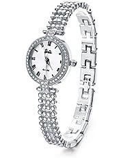 Barbie バービー プリンセスシリーズ 日本製セイコームーブメント ラインストーン付 ブレスレット式 レディース腕時計 B50583L