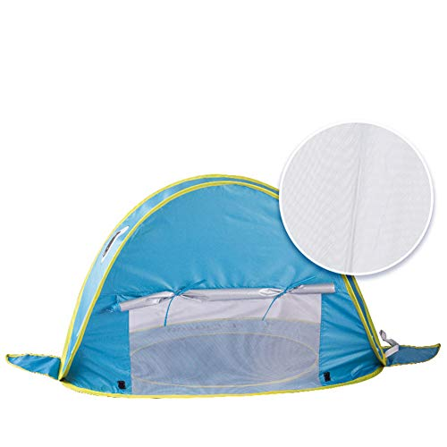 Portable Beach Tent Pool, Kids Beach Tent Mini Pool, Waterproof Portable Sunshade Pool UV Protection UPF 50+ Sun Shelter Infant Children Swimming Pool Toys Gift Tent,B
