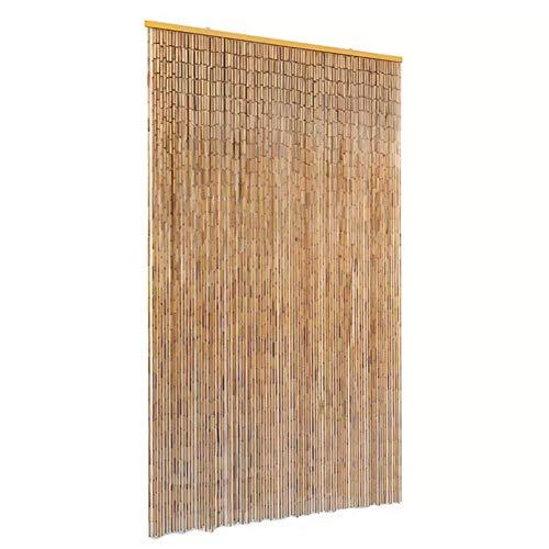 EBTOOLS- Insektenschutz Türvorhang Bambusvorhang Dekovorhang Bambus Fliegenschutz Wandvorhang Fadenvorhang Streifenvorhang Pailettenvorhang, 90 x 220 cm