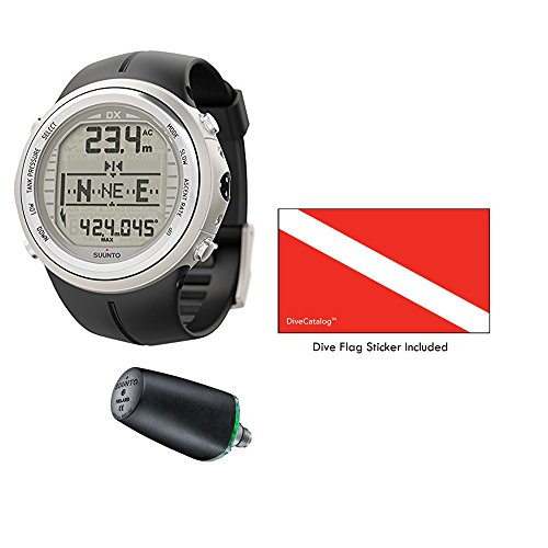 SUUNTO DX Silver Elastomer with USB & Suunto Wireless Tank Pressure Transmitter Led 1