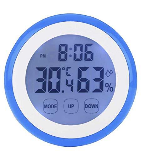 ZYZYY Digitale Temperatuur Vochtigheid display Muur Klok 12/24 uur Kunststof Koelkast sticker Binnen Weerstation LCD Backlight Klok