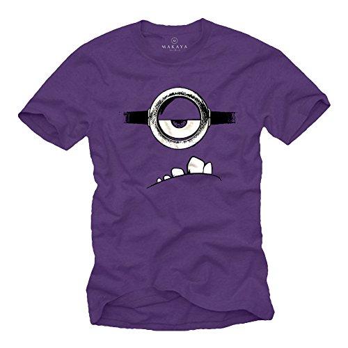 Evil Minions Camiseta Morado S