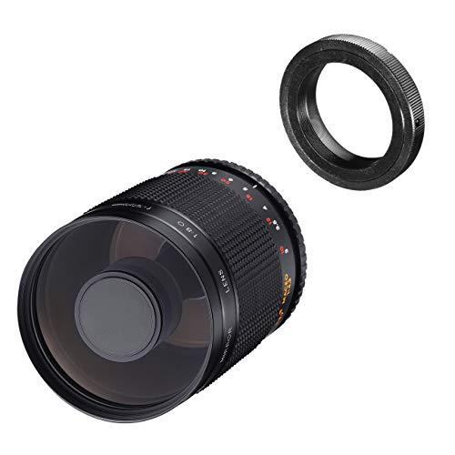 Samyang MF 500mm F8.0 Sigma Mount - DSLR, CSC Teleobiettivo, messa a fuoco manuale, diametro del filtro: 72mm, per formato pieno e APS-C