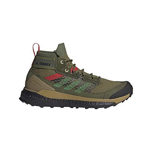 adidas Terrex Free Hiker Blue, Trekkingschuhe für Herren, Wild Pine Vivid Green Vivid Red - Größe: 41 1/3 EU