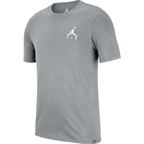 NIKE JMPMN Air EMBRD tee T-Shirt de Baloncesto, Hombre, Carbon Heather/(White), S