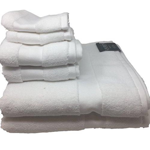 Lauren Ralph Lauren Wescott Handtuch-Set, 6-teilig, 2 Badetücher, 2 Handtücher, 2 Waschlappen Segeltuch weiß