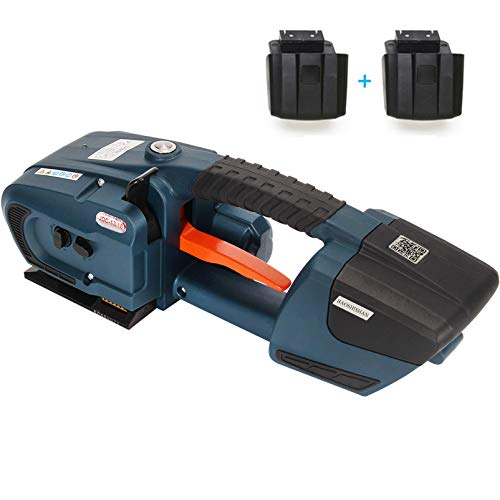 BAOSHISHAN Electric Strapping Machine for 1/2-5/8in PP PET Straps 4000mah Battery Powered Automatic...