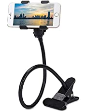 LXCN® Metal Lazy 360-degree Rotating Flexible Long Arms Mobile Phone Holder Mount,Lazy Hands Free Clip-on Smartphone Mobile Holder for Desk Bed, Car Desktop Office etc.(Color May Vary)