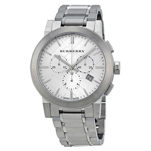 Burberry BU9350 Armbanduhr, Armband aus Edelstahl, silberfarben