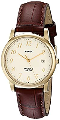Timex Men's T2M441 Easy Reader Brown Croco Patterned Leather Strap Watch from Timex