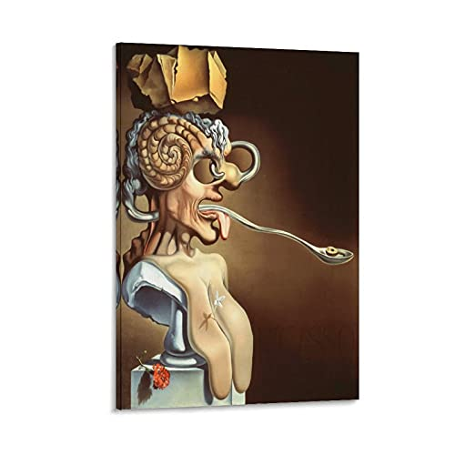 HJSF Dalí Theatre Museum Poster Decorative Painting Canvas Wall Art Living Room Poster Bedroom Painting 08 x 12 Inches (20 x 30 cm)
