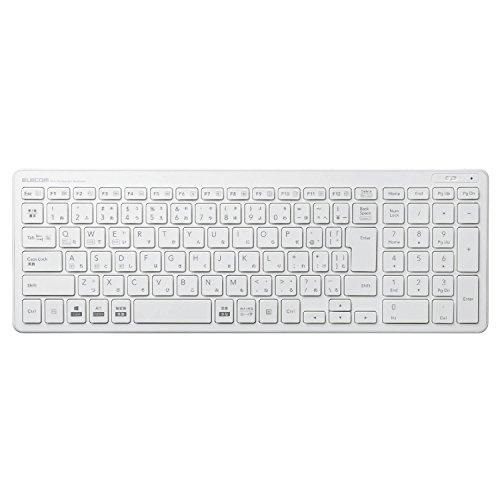エレコム キーボード Bluetooth パンタグラフ コンパクトキーボード Windows・Mac・iOS・Android対応 ホワイト TK-FBP101WH