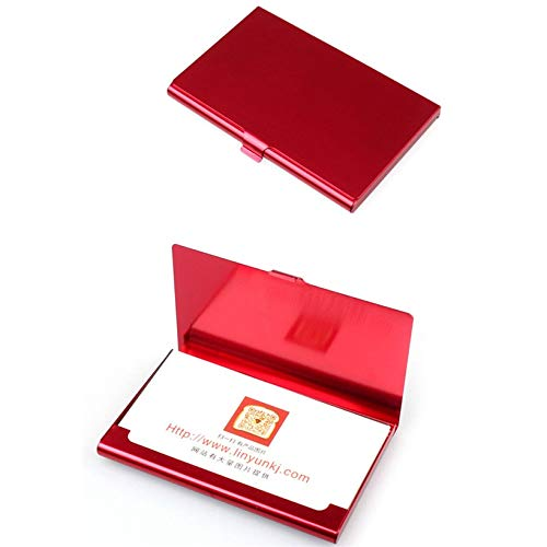 BAYUE Tarjetero Aelicy Caso Creativo del Acero Inoxidable de la Carpeta de Aluminio Cubierta de la Tarjeta de crédito de Negocios Hombres Metal Box sostenedor del Metal (Color : C)