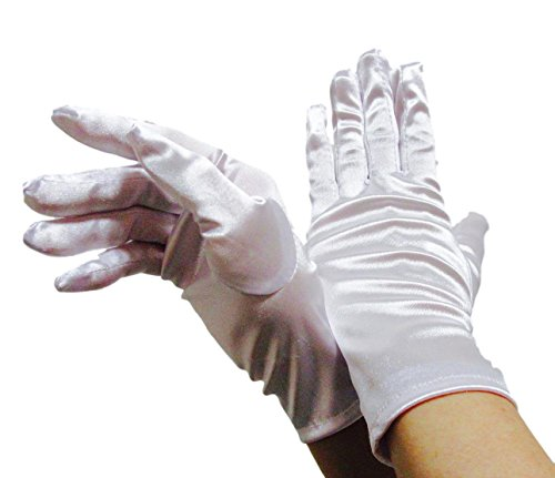 ウェディング ブライダル 小物 ショート グローブ レディース ファッション ウエディング ストレッチ サテン 23cm 手袋 結婚式 ガールズ フォーマル ウェア 選べる カラー 全 11 色白 ホワイト お洒落 可愛い 花嫁 セット 白