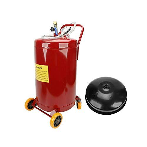 SUPERFASTRACING 20 Gallon Gas Fuel Diesel Caddy Transfer Tank Container Pump by Air Pressure