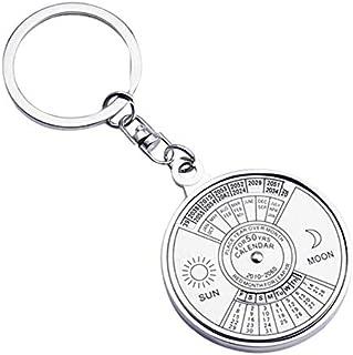 Aryshaa 50 Years Calendar Metal Alloy Compass SilverKey Chain Keyring