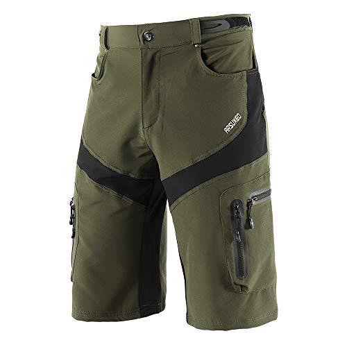 Lixada MTB Hose Herren Radhose Fahrradhose Schnelltrocknend Atmungsaktive Outdoor Sport Lässige Shorts mit 6 Taschen