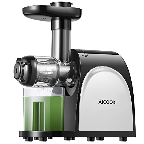Juicer, Aicook Slow Masticating Juicer, Cold Press Juicer Machine Easy to Clean, Higher Juicer Yield...