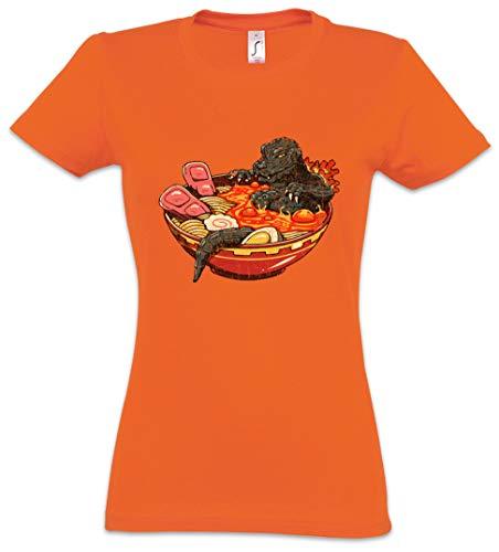 Urban Backwoods Ramen Lava Damen T-Shirt Orange Größe M