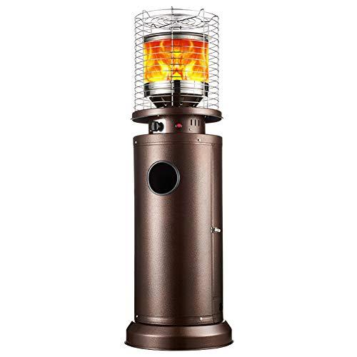 MZBZYU Estufa De Gas para Exterior, Calefactor por Infrarrojos con Cubierta Protectora De Acero Inoxidable Estufa De Terraza 11KW,Liquefied Gas