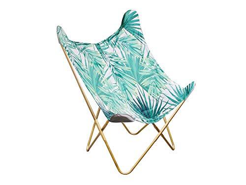 Cmp, fauteuil papillon imprimé jungle
