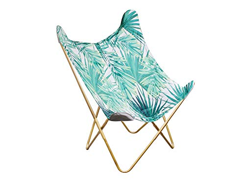 BIRDY Butterfly Armchair - Jungle Print Fabric - W 74 x D 79 x H 101 cm
