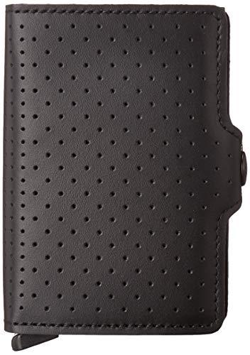 Secrid Twinwallet Cuero Perforado - negro -