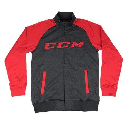 CCM Jacke Track Jacket Heather Black/Red SR, XL