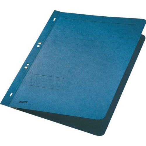 Esselte Leitz Ösenhefter, 1/1 Vorderdeckel, A4, kfm.- oder Amtsheftung, Manilakarton, blau, 50Stück