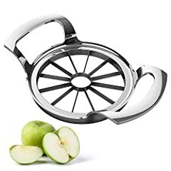 [Upgraded Apple Slicer] This apple slicer is made of 304 stainless steel, an upgraded version of the apple cutter with 12 blades, each blade is very sharp, perfect structure design, sturdy and durable. [Easy To Use] Choose an apple less than 4 inches...