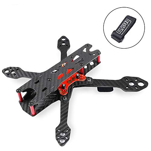 Martian IV 250mm FPV Racing Drone Frame Carbon Fiber Quadcopter Frame Kit 4mm Arms with Power Distribution Board and Battery Strap