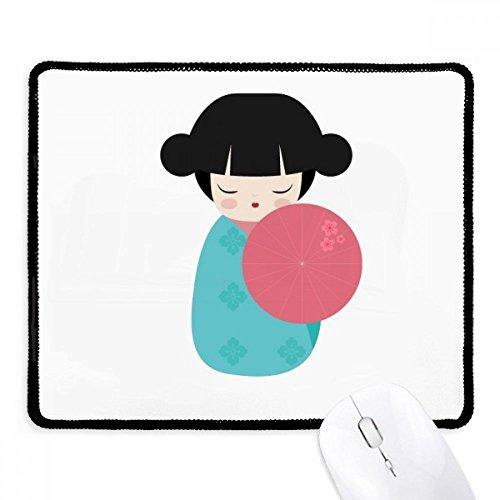 DIYthinker blauw Kimono Sakura Japan pop anti-slip muismat spel kantoor zwart Titched Edges gift