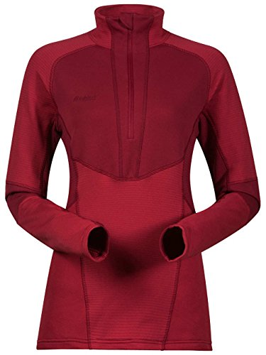 Bergans Roni Half-Zip Fleece Shirt Damen red/Burgundy Größe L 2018 Langarmshirt