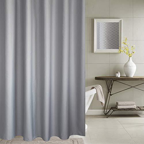 Meiosuns Duschvorhang oder Liner Polyestergewebe Duschvorhänge Waschbare Vorhangfolie Mold und Mildew Resistant mit weißen Kunststoffhaken, extra verdicken, (200 * 220cm, Grau)