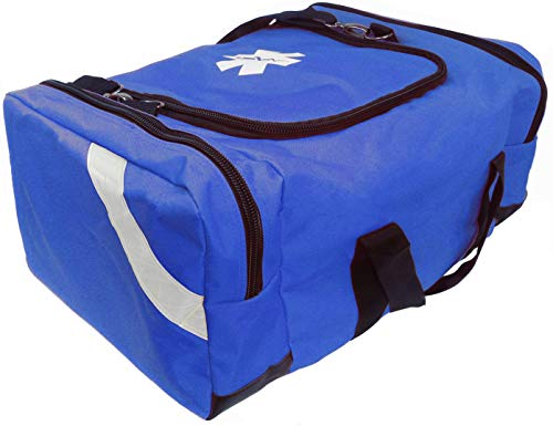 ASATechmed First Aid Large EMT First Responder Trauma Bag for Home, Office, School, Emts, Paramedics, First Responders + More (Blue)