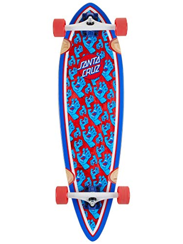 "Santa Cruz Longboard Complete Hands All Over Pintail Red 9.2"" x 33"""