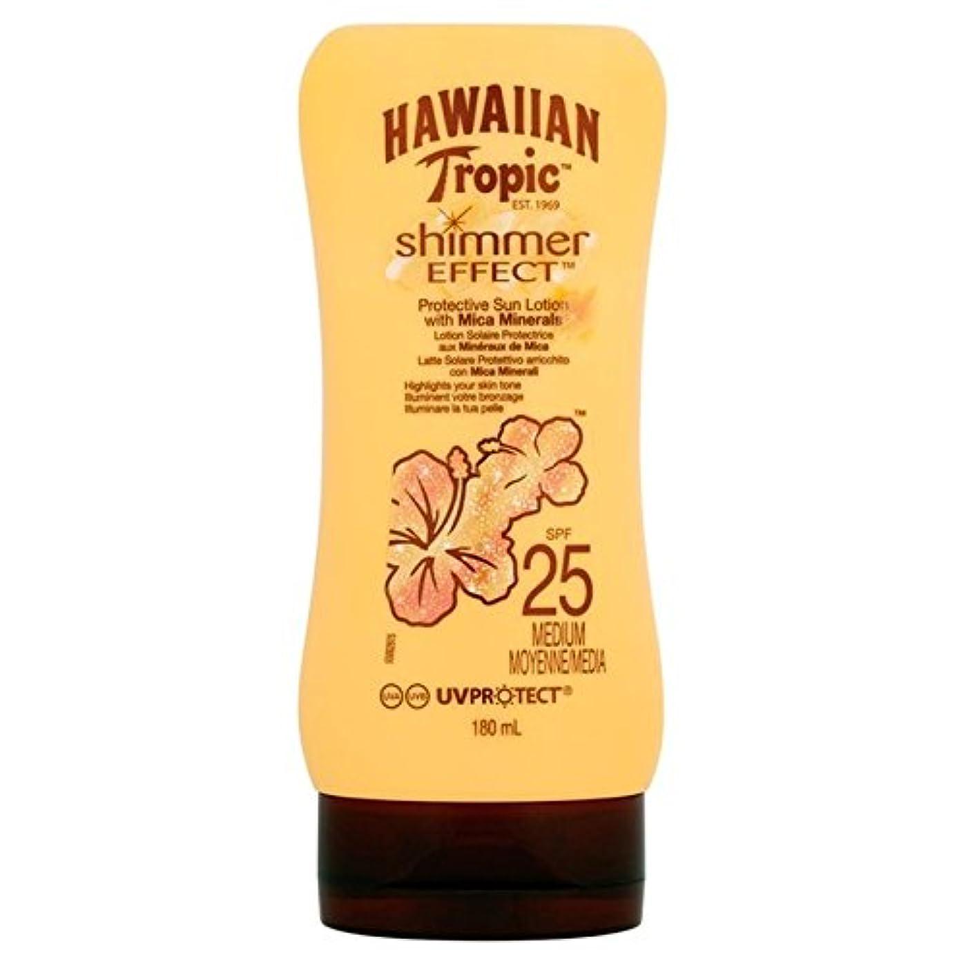 上に穏やかなの間でHawaiian Tropic Silk Shimmer Effect Sun Cream SPF 25 180ml (Pack of 6) - 南国ハワイシルクきらめき効果の日焼け止めクリーム 25 180ミリリットル x6 [並行輸入品]