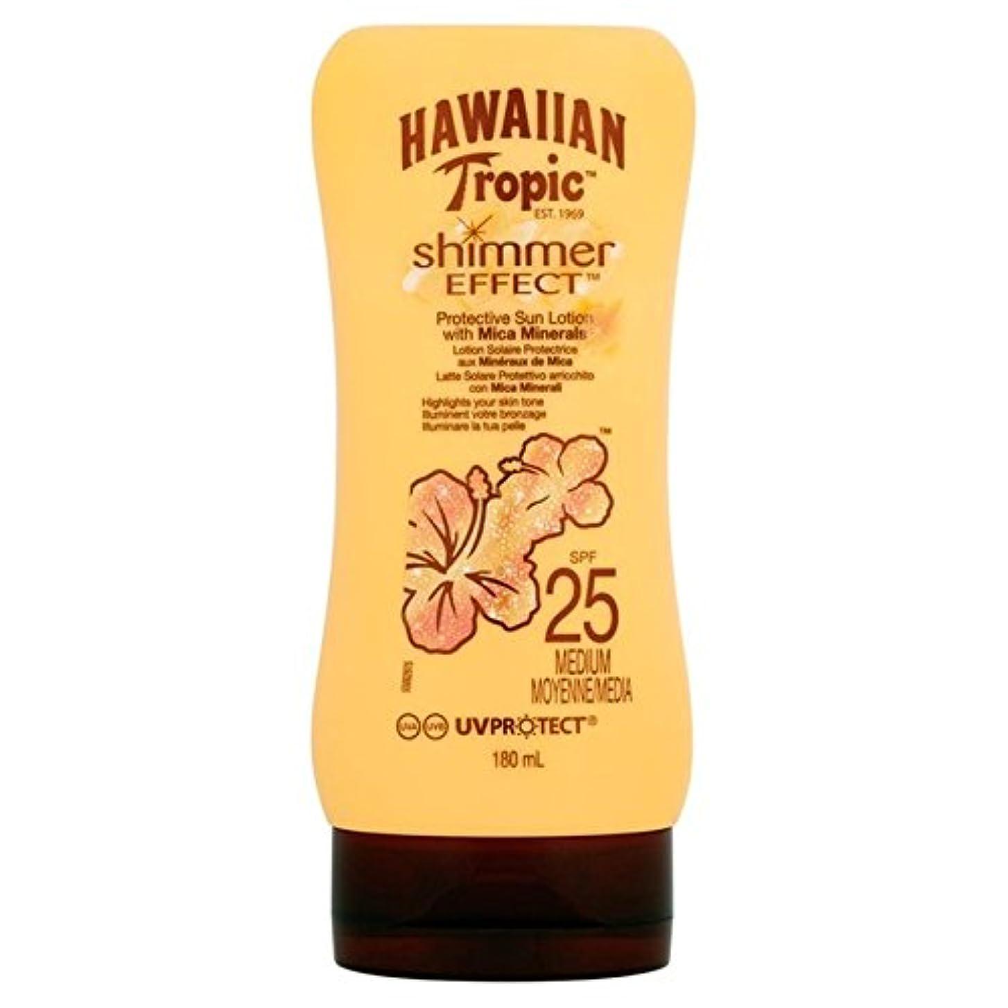 ある確認する創傷Hawaiian Tropic Silk Shimmer Effect Sun Cream SPF 25 180ml (Pack of 6) - 南国ハワイシルクきらめき効果の日焼け止めクリーム 25 180ミリリットル x6 [並行輸入品]