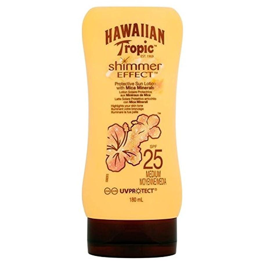 のヒープ冷蔵庫バスルーム南国ハワイシルクきらめき効果の日焼け止めクリーム 25 180ミリリットル x4 - Hawaiian Tropic Silk Shimmer Effect Sun Cream SPF 25 180ml (Pack of 4) [並行輸入品]