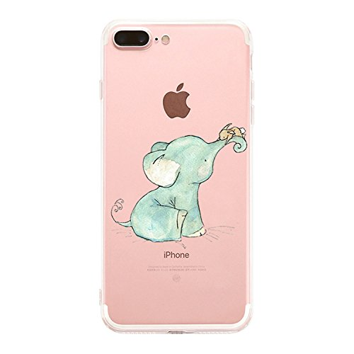 "Custodia iPhone 8 Plus, Cover iPhone 7 Plus, Alsoar Elefante Ananas Ultra Slim Sottile e Anti-Graffio Antiscivolo Silicone Custodia Cover per iPhone 8 Plus, iPhone 7 Plus 5.5"" (Elefante)"