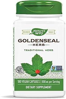 Nature's Way Premium Herbal Goldenseal Herb 400 mg, 180 Vegetarian Capsules (2 Pack)