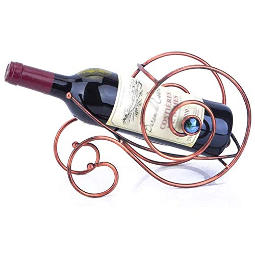 Wine racks 1 Bottle With Handle, Free-Standing Wine Storage Shelf Snail Shape Wine Shelf Iron Process Display Stand Tabletop for Home Decoration