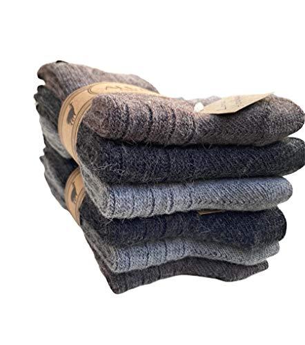Lucchetti Socks Milano 6 PAIA calzini uomo CORTI IN misto lana e ALPACA caldissime di alta qualità Calze Calde per il Freddo, MADE IN ITALY (43-46, Set A)