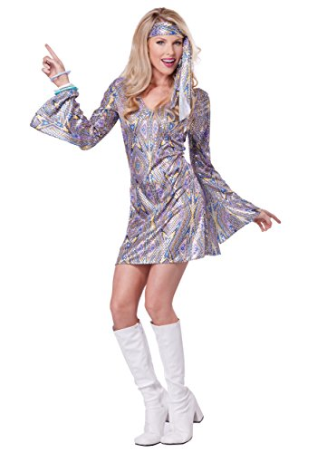 Disco Sensation Dress Costume Large