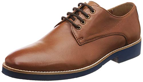 HATS OFF ACCESSORIES Men's Tan Leather Formal Shoes