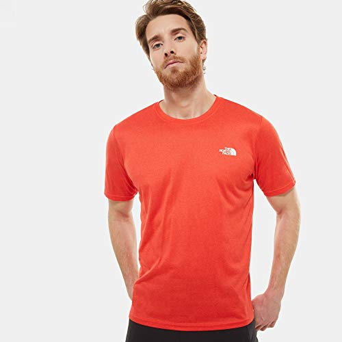 The North Face, T93RX3, T-shirt Girocollo Reaxion Amp, Uomo, Rosso (Rosso/Fiery Rosso Hthr), XL