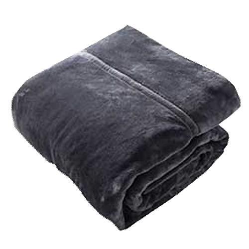 LIANG Manta de franela de piel sintética, ligera, acogedora y cálida, tamaño individual o doble XL (color: morado, tamaño: 180 x 200 cm)
