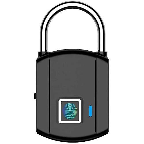 Candado de huellas dactilares al aire libre impermeable Smart Security Lock para escuela, gimnasio Locker, maletas, equipaje de viaje
