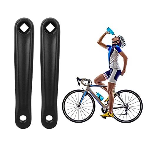 Tianher Brazo de Manivela Bicicleta, 2 Piezas Manivela de Bicicleta Aleación Aluminio Agujero de...