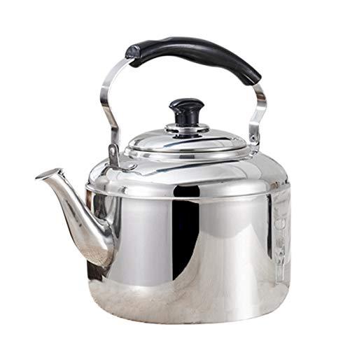 Baalaa Hervidor de acero silbado té hervidor de café cocina estufa inducción para el hogar cocina camping picnic 4L